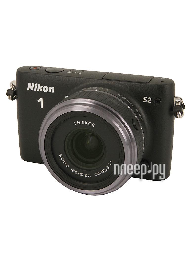 Фотоаппарат Nikon 1 S2 Kit 11-27.5 mm F/3.5-5.6 Black  Pleer.ru  15446.000