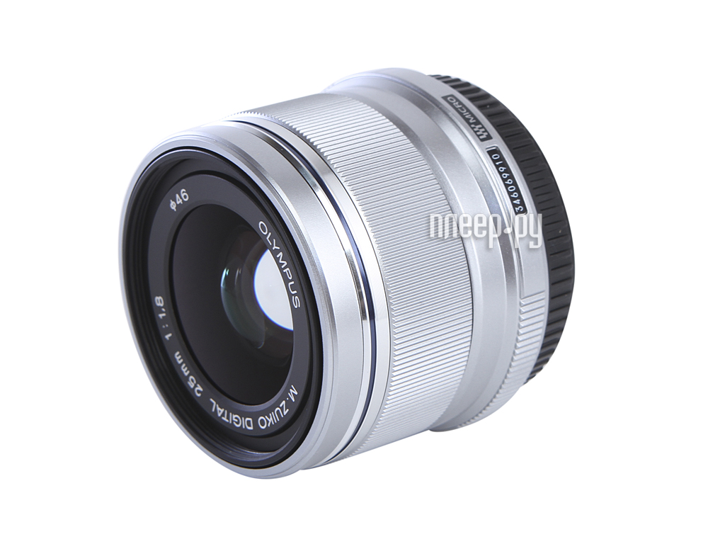 Объектив Olympus M.Zuiko Digital 25 mm f/1.8 for Micro Four Thirds Silver*  Pleer.ru  18645.000