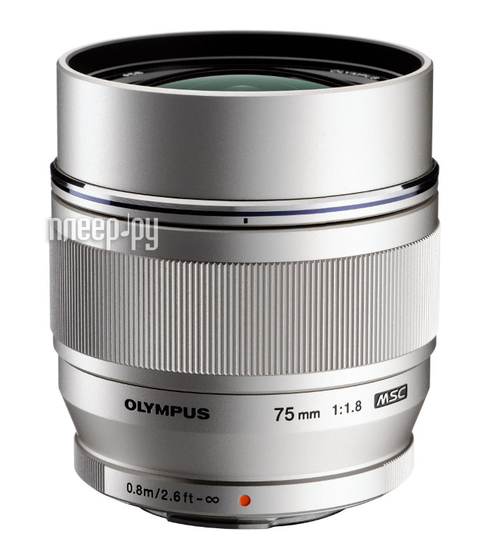Объектив Olympus M.Zuiko Digital ED 75 mm F/1.8 for PEN Silver*  Pleer.ru  36934.000