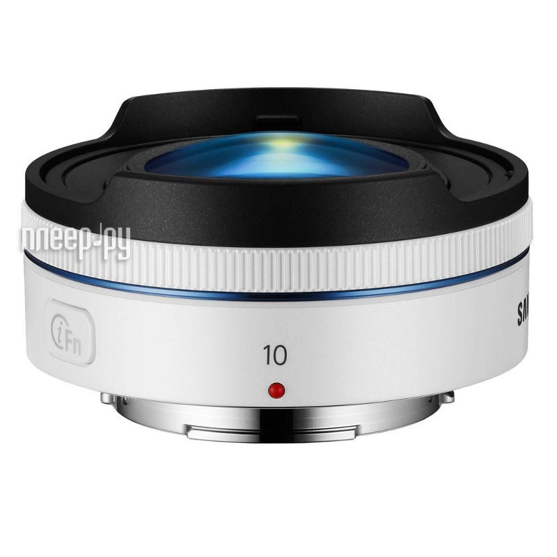 Объектив Samsung NX 10 mm F/3.5 Fisheye White*  Pleer.ru  12497.000