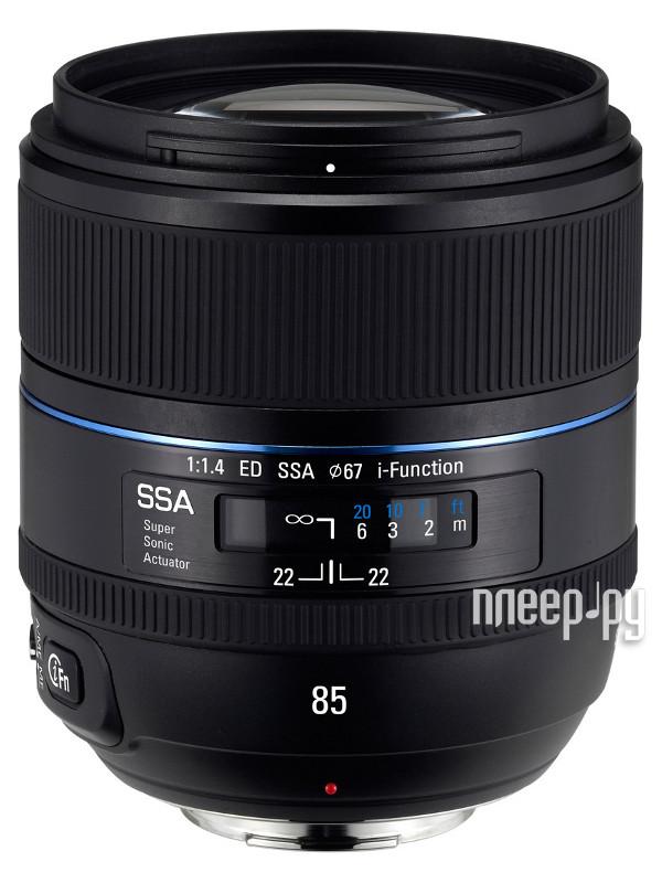 Объектив Samsung NX 85 mm F/1.4 P ED SSA T85NB*  Pleer.ru  22645.000