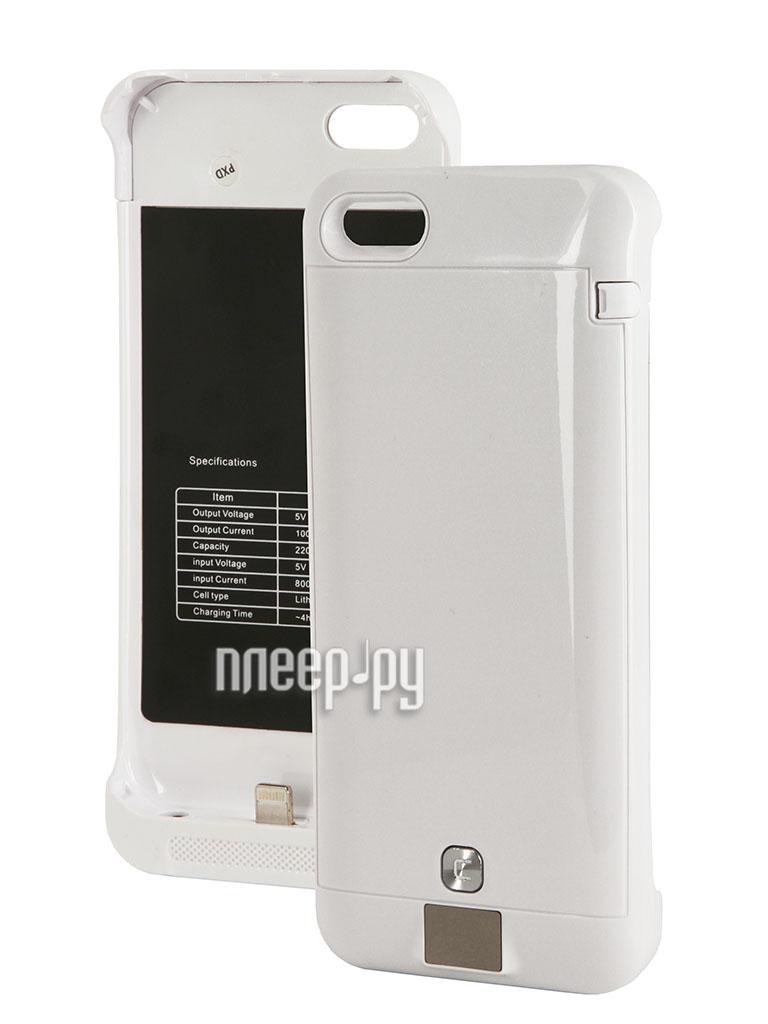 Аккумулятор Чехол-аккумулятор KS-is KS-232 2200mAh for iPhone 5/5S/5C White  Pleer.ru  1380.000