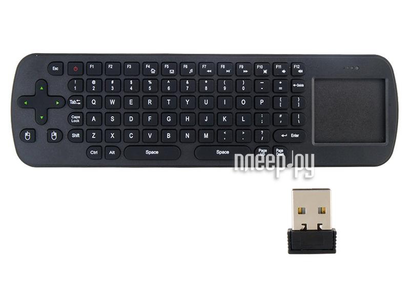 Клавиатура беспроводная Quantoom RC12 Plus Touchpad 2.4G  Pleer.ru  999.000