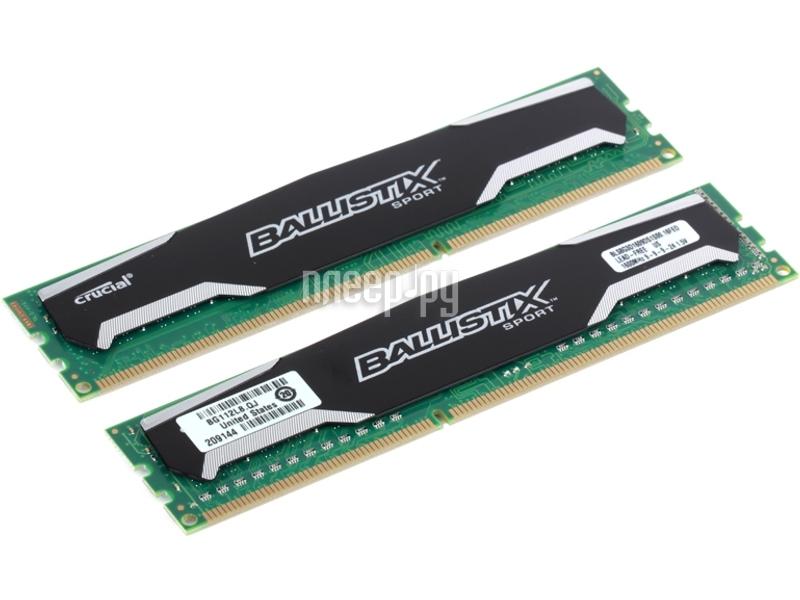 Модуль памяти Crucial Ballistix Sport DDR3