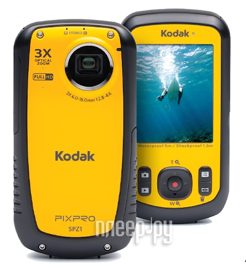 Экшн-камера Kodak SPZ1 Yellow  Pleer.ru  5160.000