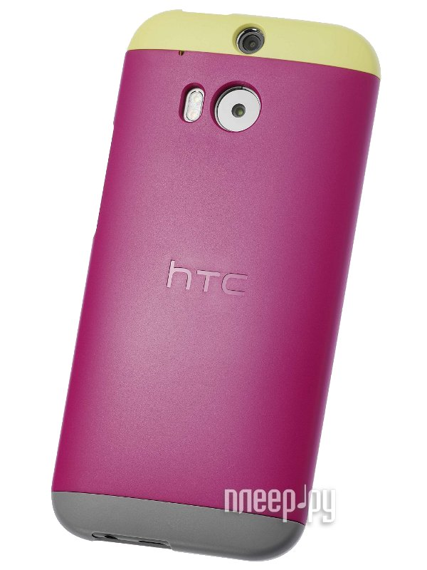 Аксессуар Чехол HTC One M8 Double Dip Hard Shell HC C940 Dark Pink-Yellow-Grey  Pleer.ru  1289.000