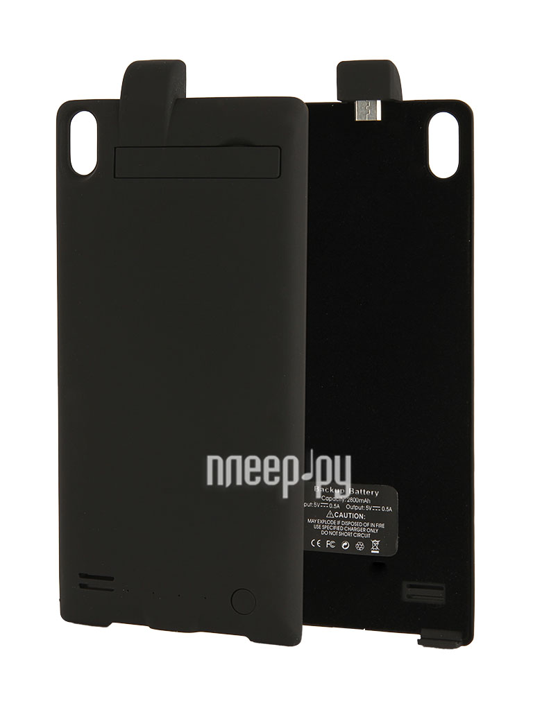 Аксессуар Чехол-аккумулятор Huawei Ascend P6 Palmexx 2800mAh Black PX/BCASE HUAW P6 BLACK  Pleer.ru  1599.000