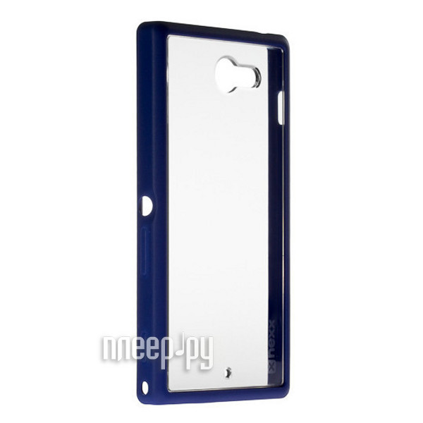 Аксессуар Чехол Sony Xperia M2 NEXX Zero поликарбонат Blue MB-ZR-301-DB  Pleer.ru  1040.000