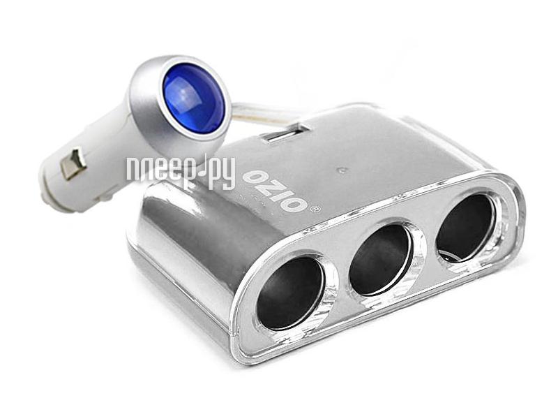 Аксессуар Разветвитель прикуривателя на 3 гнезда и 1 USB выход OZIO YD/T2306-2011 Grey  Pleer.ru  495.000