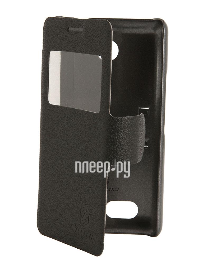 Аксессуар Чехол Sony Xperia E1 Nillkin Fresh Series Leather Case Black T-N-SD2105-001  Pleer.ru  1198.000