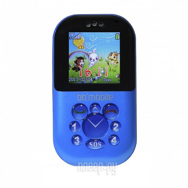 Сотовый телефон BB-mobile Жучок Blue  Pleer.ru  1952.000