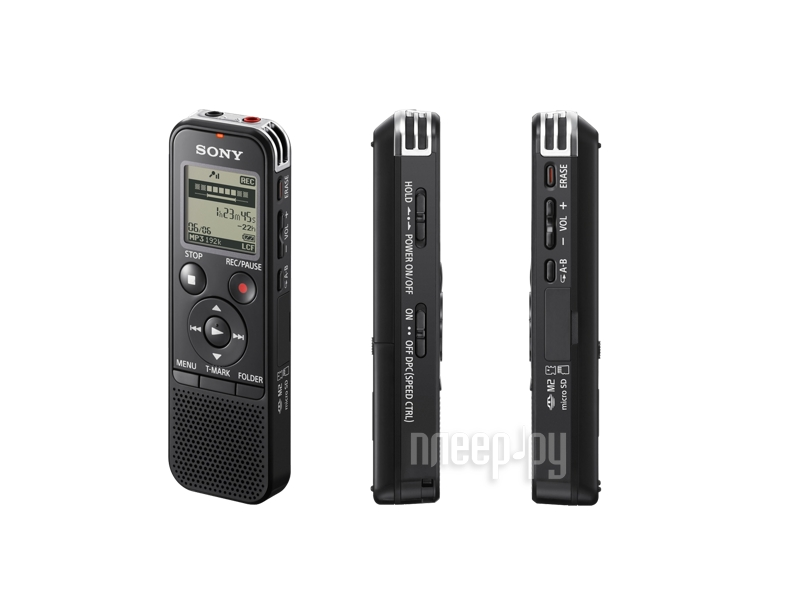Диктофон Sony ICD-PX440 - 4Gb Black  Pleer.ru  2848.000