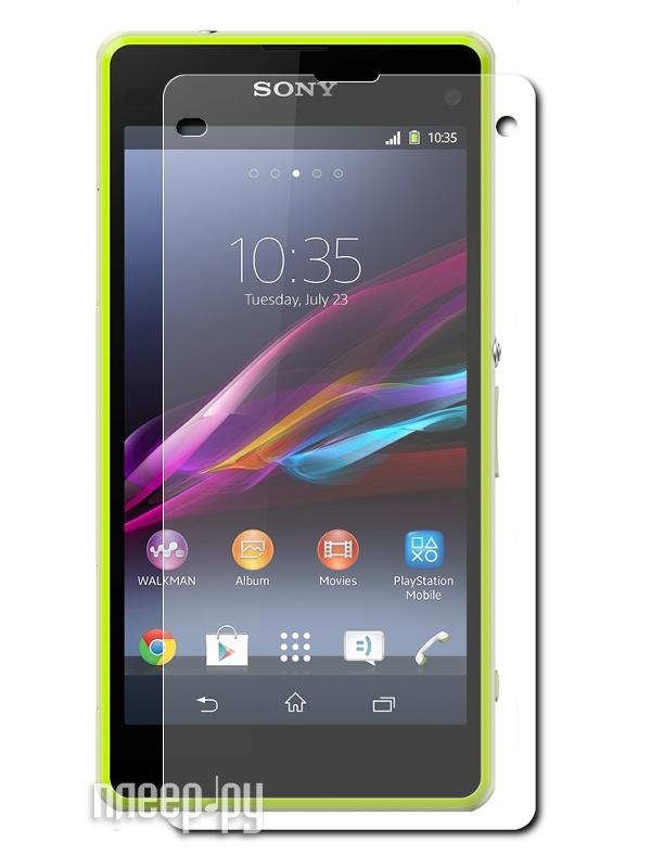 Аксессуар Защитная пленка LuxCase for Sony Xperia Z1 Compact (экран+задняя панель) антибликовая 80948  Pleer.ru  573.000