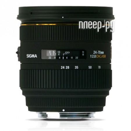Объектив Sigma Nikon AF 24-70 mm F/2.8 EX IF DG HSM  Pleer.ru  26798.000