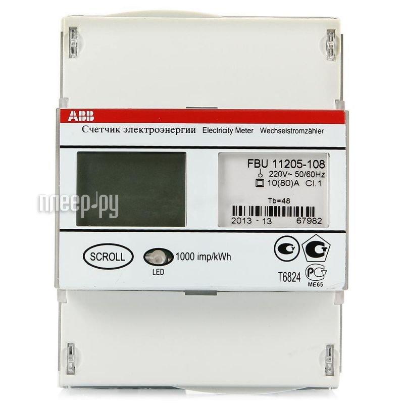 Счетчик электроэнергии ABB Delta СЭ1-80/10 Т2 D ЖК FBU11205  Pleer.ru  4360.000