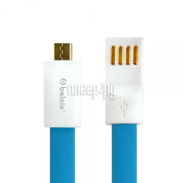 Аксессуар Belsis micro USB - USB A 1m BS1004 Blue