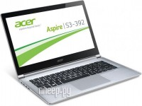 Acer Aspire S3-392G-54206G50tws NX.MDWER.005 (Intel Core i5-4200U 1.6 GHz/6144Mb/500Gb/NO ODD/nVidia GeForce GT 735M 1024Mb/Wi-Fi/Bluetooth/Cam/13.3/1366x768/Touchscreen/Windows 8.1 64-bit) 923191