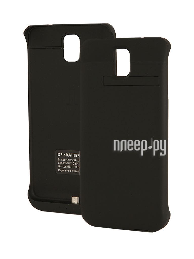 Аксессуар Чехол-аккумулятор Samsung SM-N900 Galaxy Note 3 DF SBattery-12 Black  Pleer.ru  1599.000