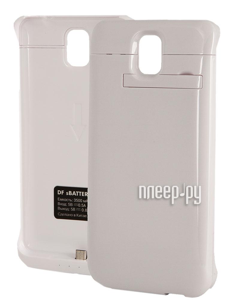 Аксессуар Чехол-аккумулятор Samsung SM-N900 Galaxy Note 3 DF SBattery-12 White  Pleer.ru  1599.000