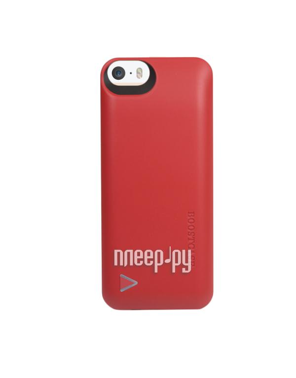 Аккумулятор Чехол-аккумулятор Boostcase Hybrid Power Case for iPhone 5/5S 2200 mAh BCH2200IP5187 Red  Pleer.ru  3090.000