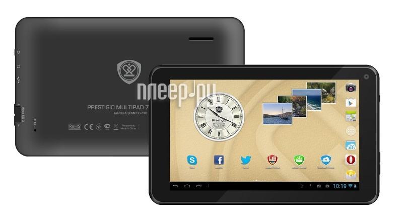 Планшет Prestigio Multipad 7.0 Ultra+ PMT3677_WI_B_BK Black (Allwinner A13 1.0 GHz/512Mb/4Gb/Wi-Fi/Cam/7.0/800x480/Android 4.2)  Pleer.ru  1898.000