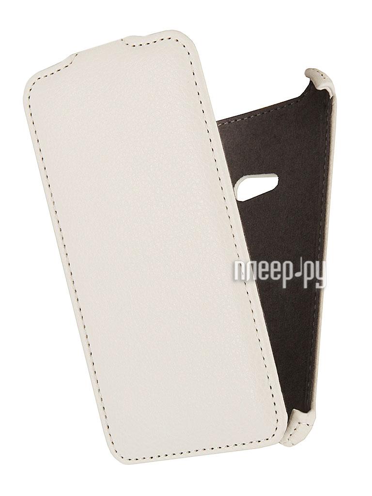 Аксессуар Чехол Nokia Lumia 625 EcoStyle Flip Sheel White ESH-F-NOK625-WH  Pleer.ru  1069.000