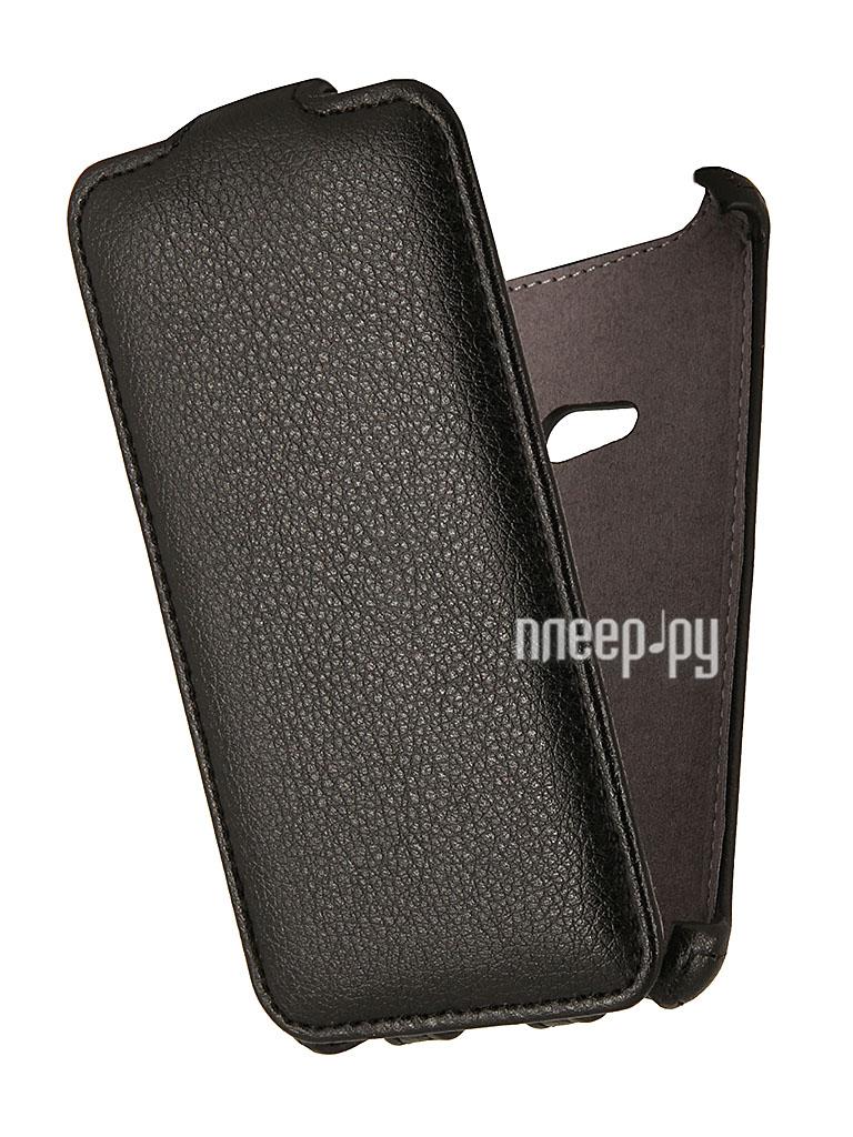 Аксессуар Чехол Nokia Lumia 625 EcoStyle Flip Sheel Black ESH-F-NOK625-BL  Pleer.ru  1069.000