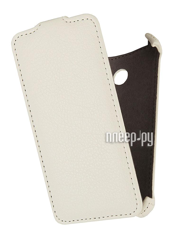 Аксессуар Чехол Nokia Lumia 630 / 635 EcoStyle Flip Sheel White ESH-F-NOKLU630-WH  Pleer.ru  1069.000