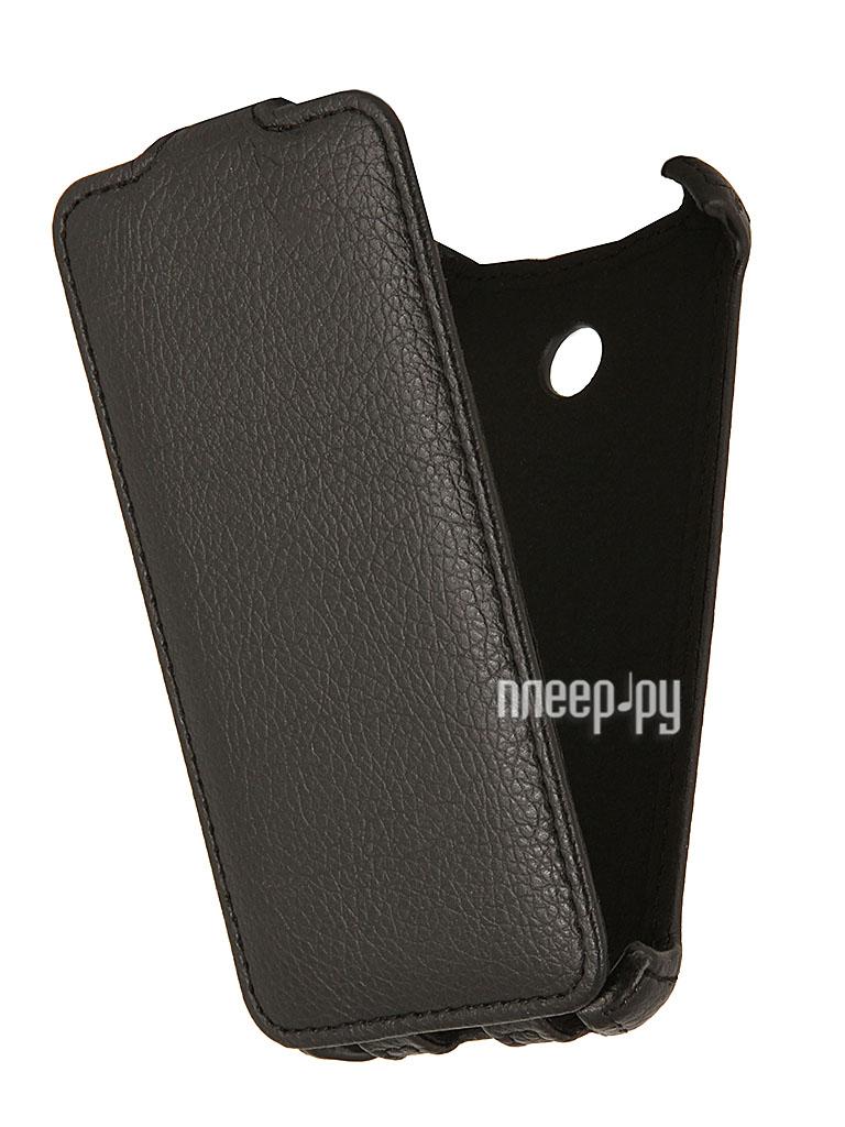 Аксессуар Чехол Nokia Lumia 630 / 635 EcoStyle Flip Sheel Black ESH-F-NOKLU630-BL  Pleer.ru  1069.000