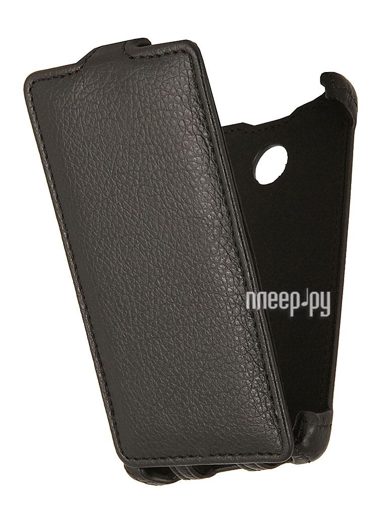 Аксессуар Чехол Nokia X / X+ EcoStyle Flip Sheel Black ESH-F-NOKX-BL  Pleer.ru  1069.000