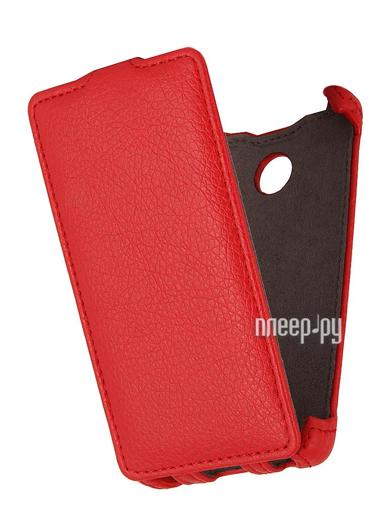 Аксессуар Чехол Nokia X / X+ EcoStyle Flip Sheel Red ESH-F-NOKX-RED  Pleer.ru  1069.000