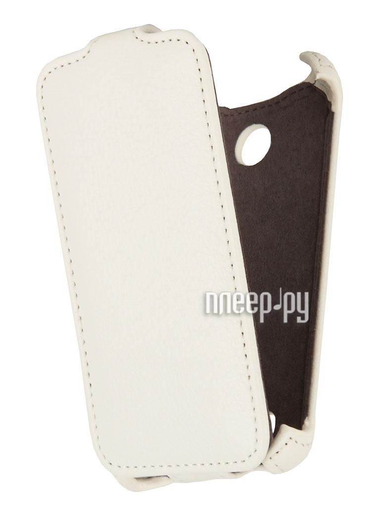 Аксессуар Чехол Sony Xperia E1 Dual EcoStyle Flip Sheel White ESH-F-SONE1-WH  Pleer.ru  1069.000