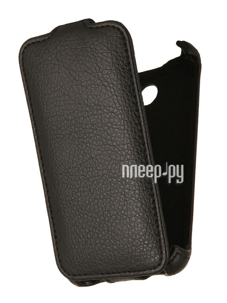 Аксессуар Чехол Sony Xperia E1 Dual EcoStyle Flip Sheel Black ESH-F-SONE1-BL  Pleer.ru  1069.000