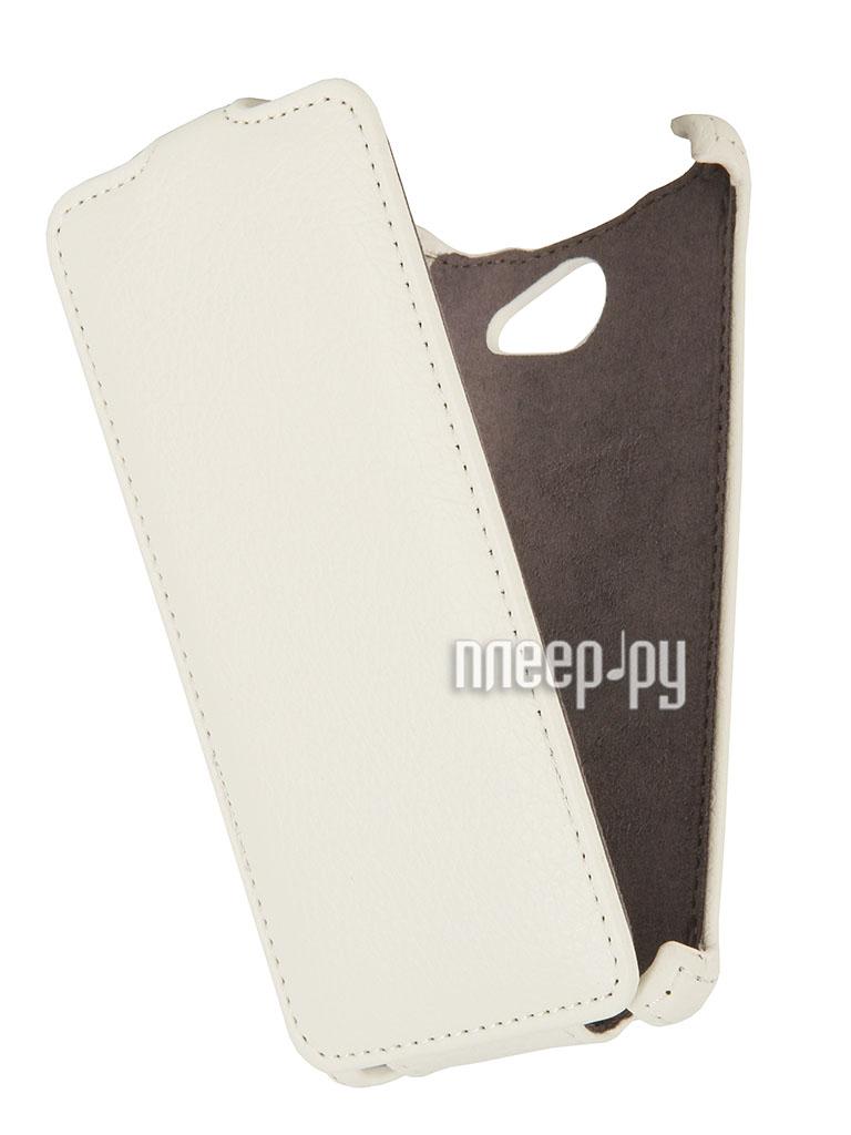Аксессуар Чехол Sony Xperia M2 EcoStyle Flip Sheel White ESH-F-SONM2-WH  Pleer.ru  1069.000