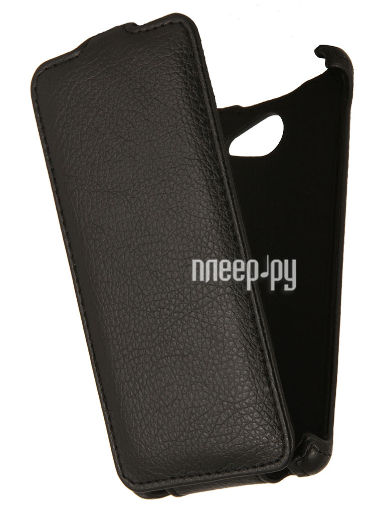Аксессуар Чехол Sony Xperia M2 EcoStyle Flip Sheel Black ESH-F-SONM2-BL  Pleer.ru  1069.000