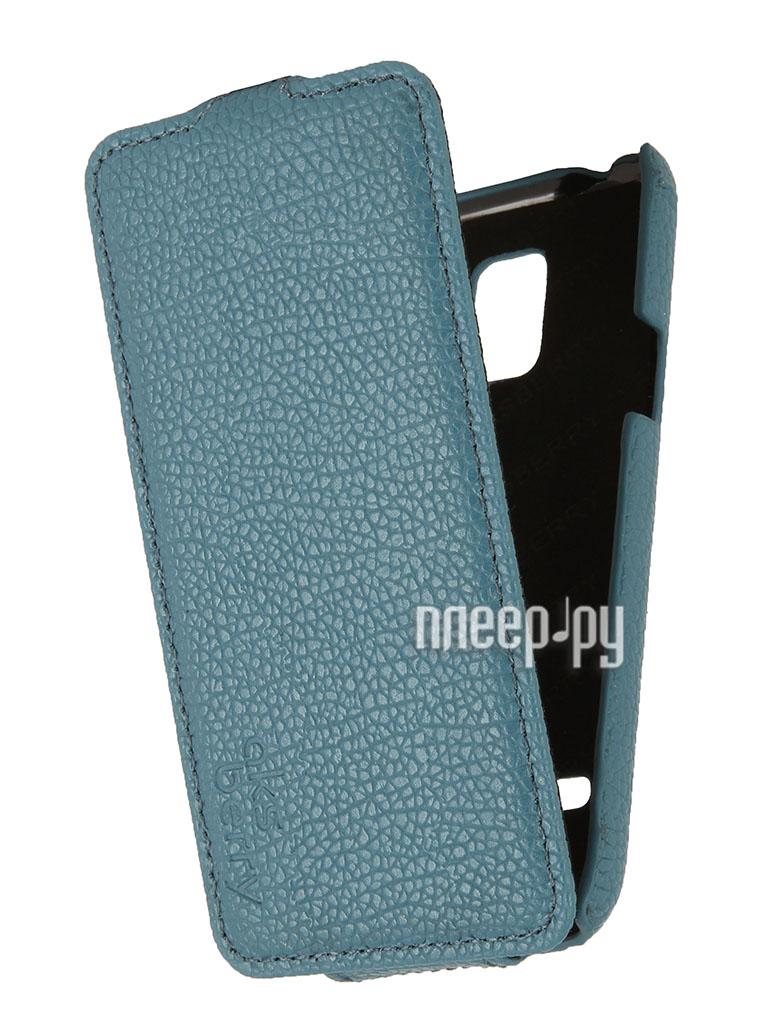 Аксессуар Чехол Samsung SM-G800 Galaxy S5 mini Aksberry Blue  Pleer.ru  1129.000