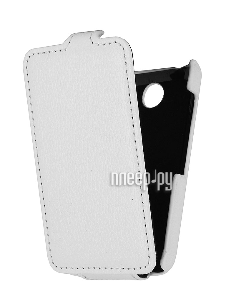 Аксессуар Чехол Nokia Asha 230 Dual Sim Aksberry White  Pleer.ru  1129.000