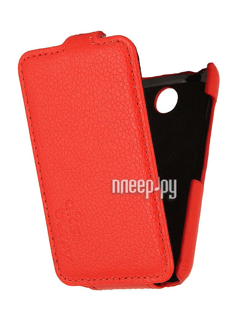 Аксессуар Чехол Nokia Asha 230 Dual Sim Aksberry Red  Pleer.ru  1129.000