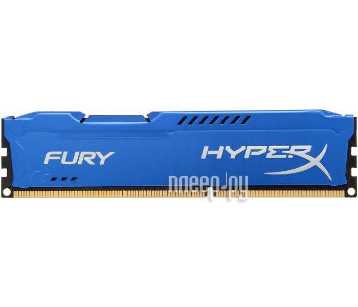 Модуль памяти Kingston HyperX Fury Blue Series DDR3 DIMM 1866MHz PC3-15000 CL10 - 8Gb HX318C10F/8