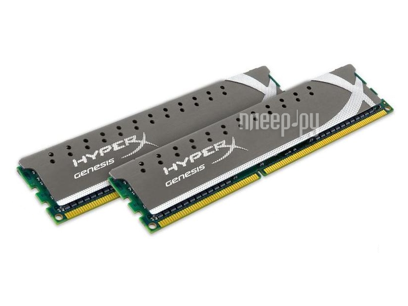 Модуль памяти Kingston PC3-12800 DIMM DDR3 1600MHz CL9 - 16Gb KIT (2x8Gb) KHX16C10P1K2/16  Pleer.ru  6614.000