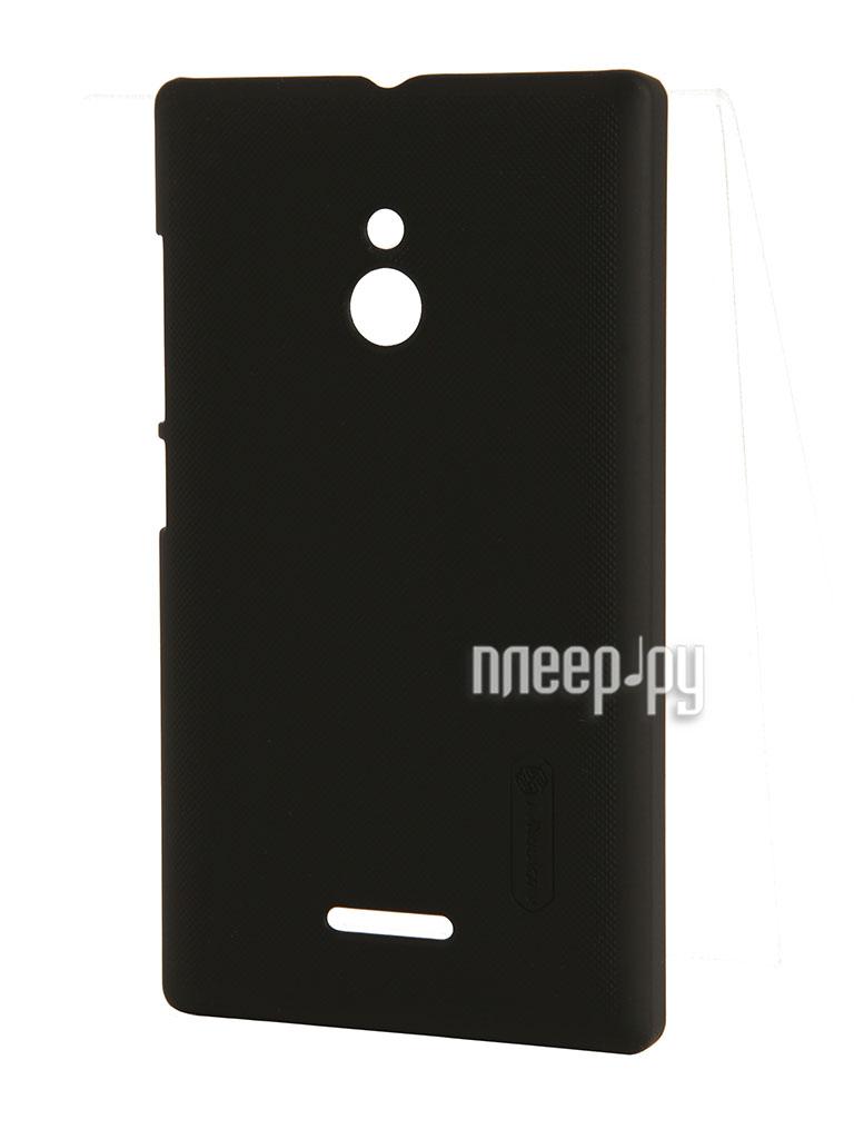 Аксессуар Чехол Nokia XL Lumia Nillkin Super Frosted Shield Black T-N-NXL-002  Pleer.ru  1100.000