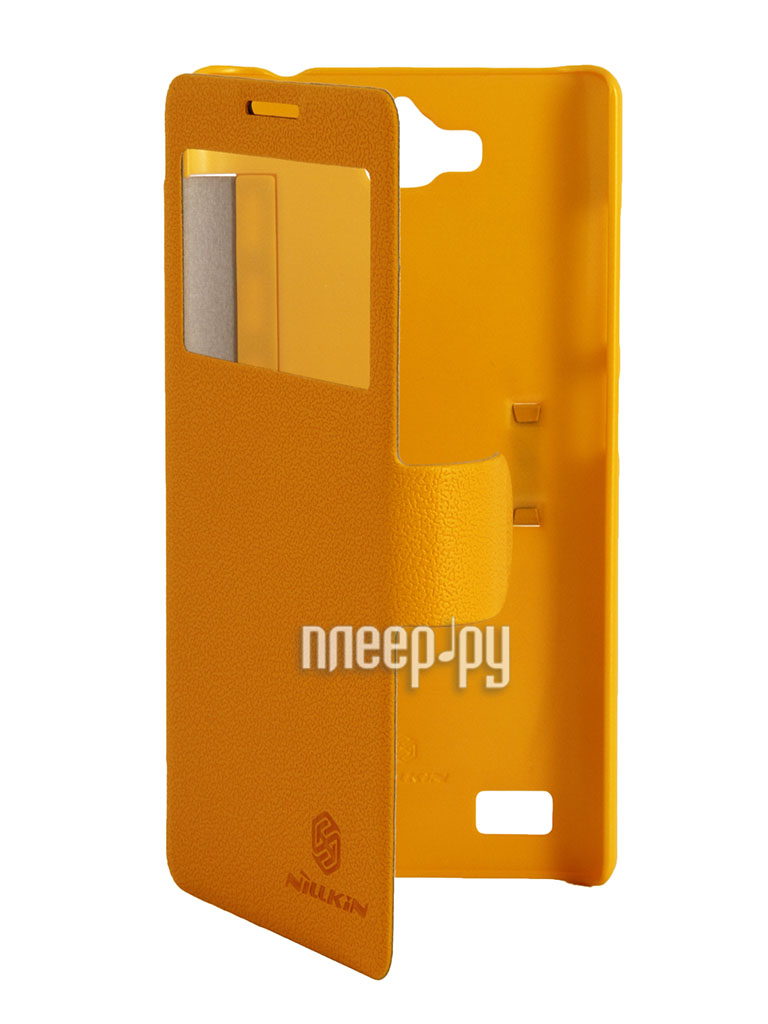 Аксессуар Чехол Huawei Honor 3C Nillkin Fresh Series Yellow T-N-HH3C-001  Pleer.ru  1199.000