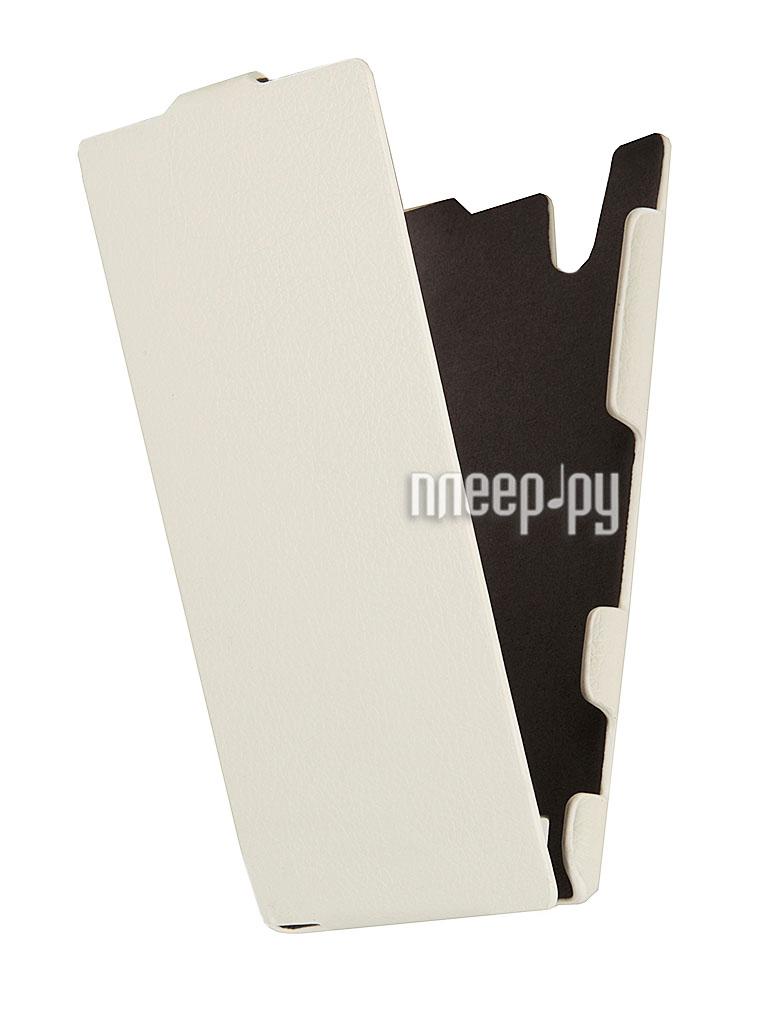 Аксессуар Чехол Sony Xperia T2 Ultra iBox Premium White  Pleer.ru  1109.000