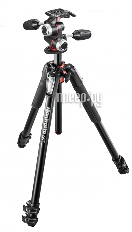 Штатив Manfrotto 055 ALU 3-S KIT 3W HEAD MK055XPRO3-3W
