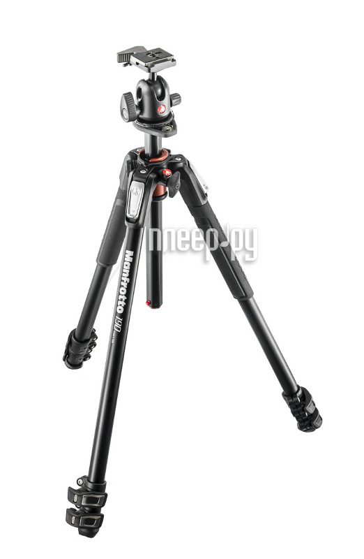 Штатив Manfrotto 190 ALU 3-S KIT 3W HEAD MK190XPRO3-3W