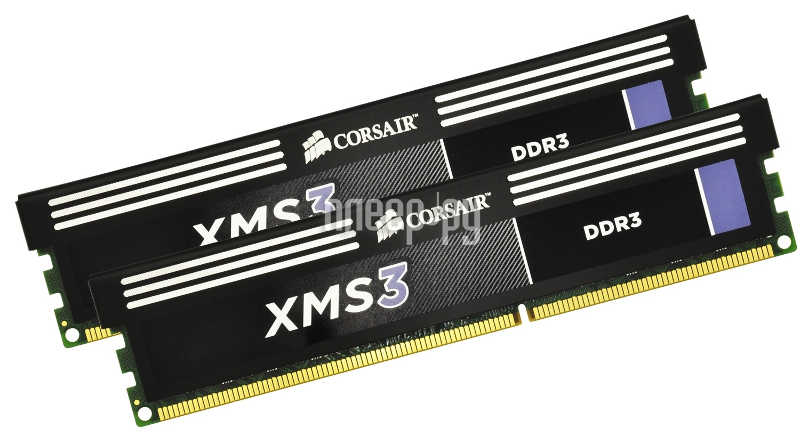 Модуль памяти Corsair PC3-12800 DIMM DDR3 1600MHz - 8Gb KIT (2x4Gb) CMX8GX3M2A1600C11  Pleer.ru  3841.000