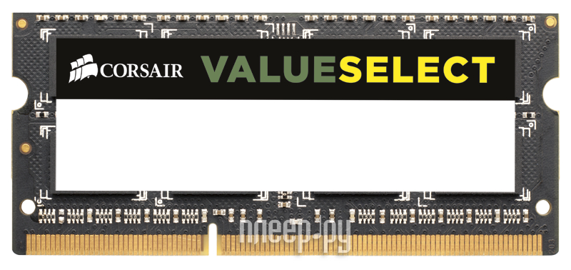 Модуль памяти Corsair PC3-12800 SO-DIMM DDR3 1600MHZ - 8Gb CMSO8GX3M1A1600C11  Pleer.ru  3441.000
