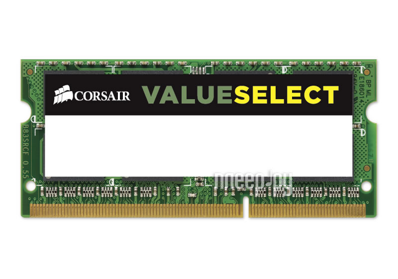Модуль памяти Corsair PC3-12800 SO-DIMM DDR3 1600MHz - 4Gb CMSO4GX3M1A1600C11  Pleer.ru  1740.000