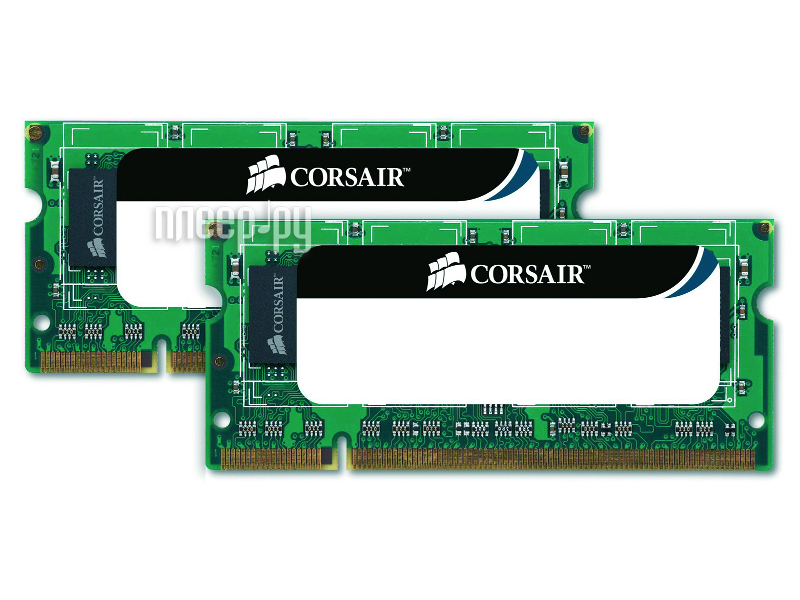 Модуль памяти Corsair PC3-10600 SO-DIMM DDR3 1333MHz - 2x4Gb CMSO8GX3M2A1333C9  Pleer.ru  3510.000