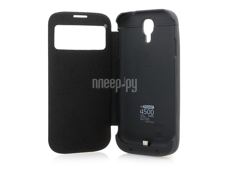 Аксессуар Чехол с аккумулятором Gmini mPower Case Flip Cover 4500 mAh for Samsung GT-i9500 / i9505 Galaxy S4 MPCS45F Black  Pleer.ru  1571.000